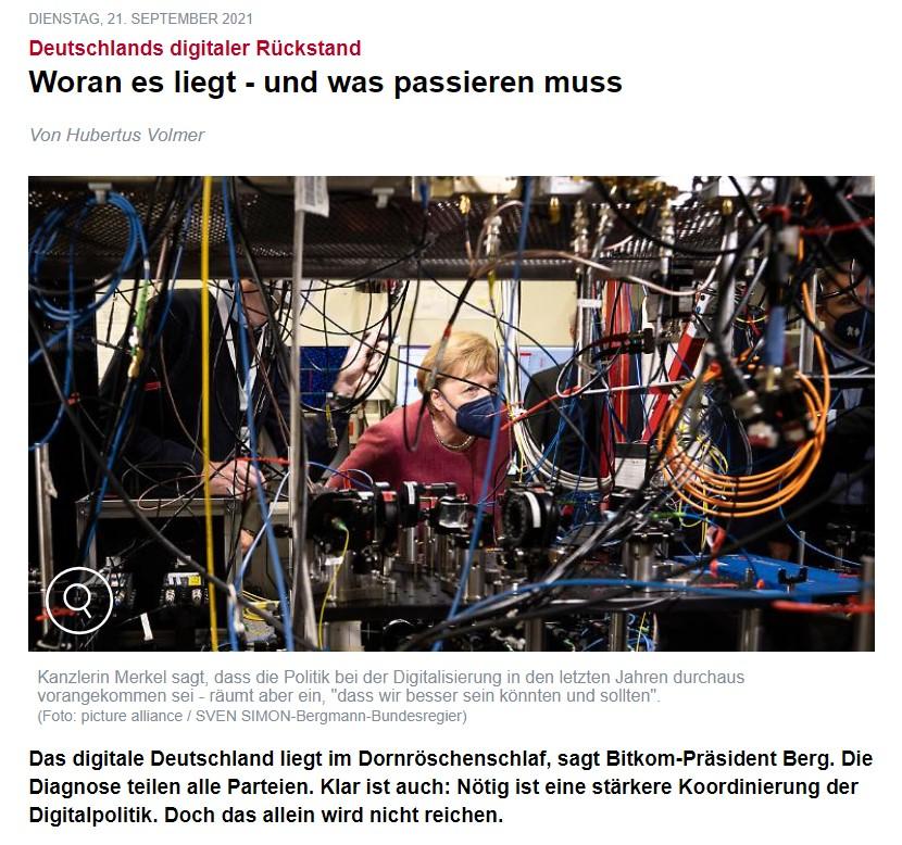 """Bericht: """"Deutschlands digitaler Rückstand"""""""