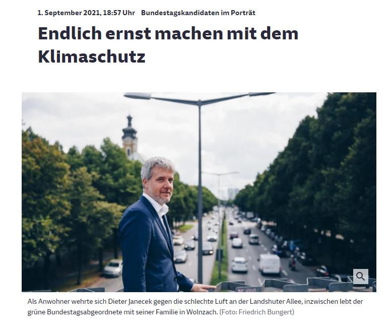 "Portrait in der SZ: ""Janecek, ein Radikal-Realo"""