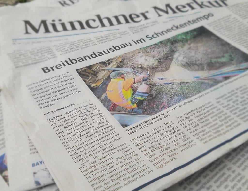 Breitbandausbau in Bayern – Träger und zäher geht es kaum