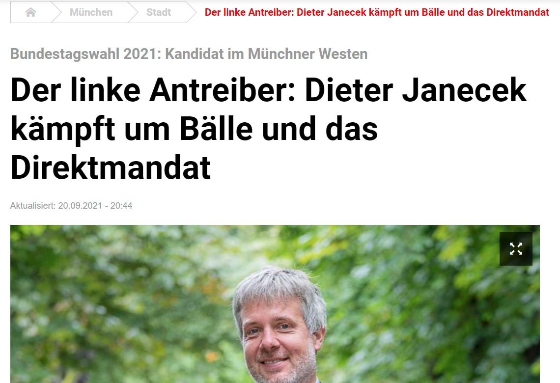"""Portrait in der TZ: """"Der linke Antreiber"""""""